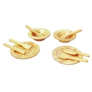 PLAN TOYS(プラントイ) ★木製玩具(木のおもちゃ)★3414★ 食器セット - 拡大画像