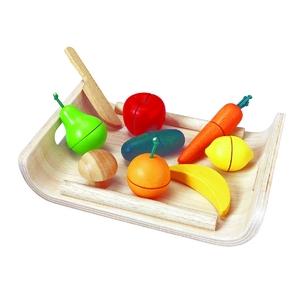 PLAN TOYS(プラントイ) ★木製玩具(木のおもちゃ)★3416★ 詰め合わせフルーツアンドベジタブル - 拡大画像