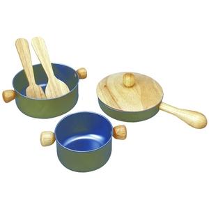 ★PLAN TOYSの木製玩具★3413★ 調理用具セット