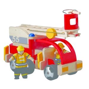 お孫さんの誕生日プレゼントに 木で作られたおもちゃ PLAN TOYSの消防車