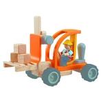 ★PLAN TOYSの木製玩具(木のおもちゃ)★6308★ フォークリフト