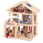 テラスドールハウス 2階部分に広いテラスと、屋根裏部屋が付いて、遊びやすい空間設計のドールハウスです(^O^)/家具と人形は含まれていません(>_<) お好きなリビングセットやベットなど楽しくそろえてお遊び下さいませ(^O^)/