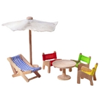 ★PLAN TOYSの木製玩具(木のおもちゃ)★7316★ パティオファニチャー