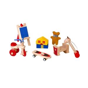 ★PLAN TOYSの木製玩具(木のおもちゃ)★9711★ 楽しいおもちゃセット