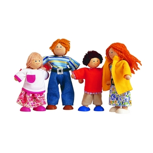 ★PLAN TOYSの木製玩具(木のおもちゃ)★7142★ モダンドールファミリー