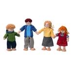 4体のおしゃれなドールファミリーです(^O^)/ 木製の、手足が自由に動かせる人形たちです♪動かせる手足とカラフルな衣装がたのしい人形です♪ お子様がなめても安全な塗料を使用しています。