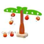 おさるのバランスゲーム バランスを上手にとるために必要なおさるの数と距離を考えることで、自然と数学的な思考能力が養われます(*^^)v