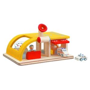 PLAN TOYS(プラントイ) ★木製玩具(木のおもちゃ)★6082★ レスキューセンター - 拡大画像