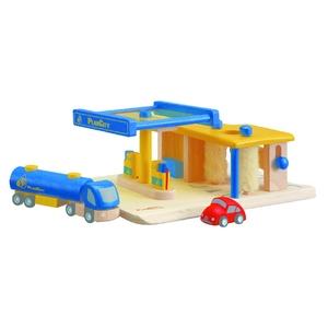 ★PLAN TOYSの木製玩具(木のおもちゃ)★6013★ ガソリンスタンド