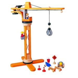 ★PLAN TOYSの木製玩具(木のおもちゃ)★6086★ クレーンセット