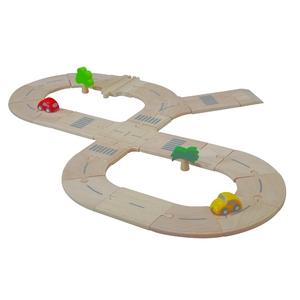 ★PLAN TOYSの木製玩具★6077★ ロードシステム スタンダード