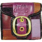 COACH(コーチ) ブリーカー レザー パッチワーク フレンチ 財布 マルチカラー 41578