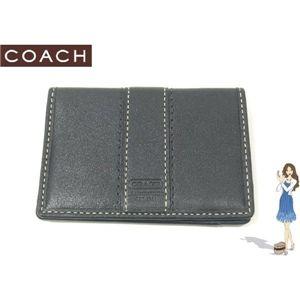 COACH(コーチ) レザー カードケース ブラック 60379