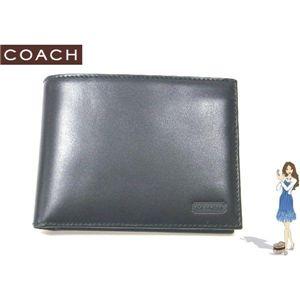 COACH(コーチ) イングリッシュ ブライドル パスケース ID ウォレット 2つ折り財布 ブラック S6485 - 拡大画像