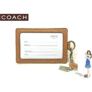 COACH(コーチ) IDカードネックストラップ シグネチャー ランヤード イエロー 60357 - 拡大画像