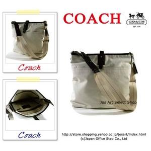 COACH(コーチ) MEN'S ショルダーバッグ ハンプトンズ ウォッシュド キャンバス ラージ クロスボディ ホワイト 70271