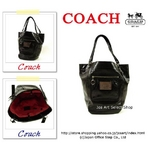 COACH(コーチ) ショルダートートバッグ POPPY ベラ レザー ブラック 14565【送料無料】
