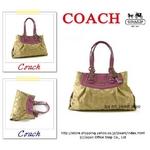 【2010年春モデル】COACH(コーチ) バッグ マディソン オプ アート キャリーオール ローズピンク/カーキ 14578
