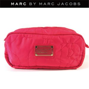 MARCBY MARCJACOBS(マークバイマークジェイコブス) ナイロン ロング コスメティック ポーチ ピンク
