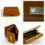 samantha Vega(サマンサベガ)セレブリティ ハートストーン 3つ折り財布 ブラック