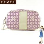 Coach(コーチ) ポーチ ペネロピ オプ アート ラージ コスメケース パープル 42211