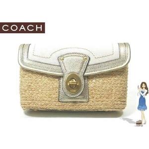 1c979e7509c8 Coach(コーチ) バッグ ストロー ポーチ リストレット ホワイト 42530 画像1