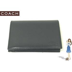 Coach(コーチ) 2つ折り財布 イングリッシュ ブライドル コンパクト ID ブラック S6486 - 拡大画像