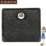 Coach(コーチ) 財布 グラマシー オプアート スモールウォレット ブラック 42941