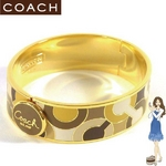 Coach(コーチ) バングル ヒンジド オプアート ゴールド/カーキ 94749
