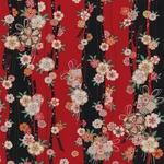 【箱入り】■日本製高級風呂敷■はいからもだん友仙ふろしき[二巾]■立取り花くす玉(赤)■