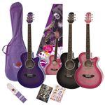 パープルが可愛いGYPSYROSE(ジプシーローズ) レディース用 アコースティックギターセット GRA1K シャンパンパープル