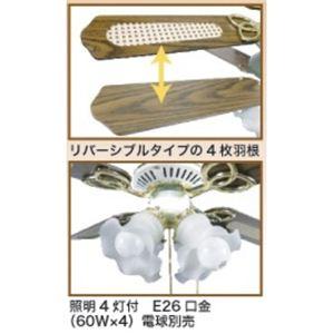 シーリングファン KE42-4ZM-4LC1 【照明付き天井扇】