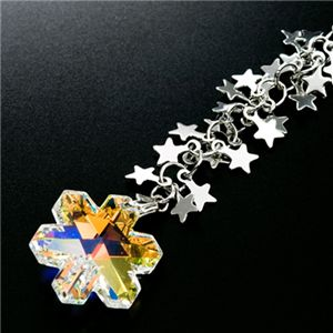 きらきら舞い降りる星ジュエリーチャーム 雪の結晶オーロラ - 拡大画像