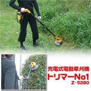 【訳あり・箱潰れ】充電式電動草刈機 トリマーNo1 Z-5280 - 拡大画像