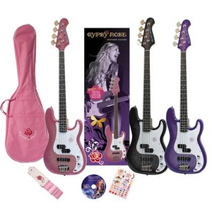 GYPSY ROSE(ジプシーローズ) ベースギター・セット GRB1K シャンパンピンク - 拡大画像