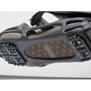 スノースパイクシューズ/アイゼン 【Sサイズ 21.0cm〜23.5cm】 携帯ケース付き 合成ゴム 鋲 スチール 革靴・運動靴・長靴対応