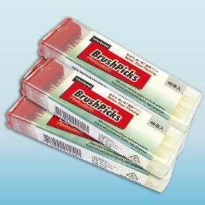 爪楊枝型歯間ブラシ「ブラッシュピックス40本」×10個セット(計400本) - 拡大画像