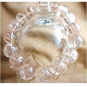 クラック水晶ブレスレット 12mm RM-012P・ピンク