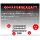 インフルエンザ、火山灰対策に!米国N95規格マスク 5枚入 (カップ型マスク) - 縮小画像2