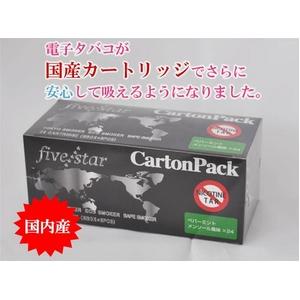 【電子タバコ】FIVE STARカートリッジ ペパーミントメンソール カートンパック - 拡大画像