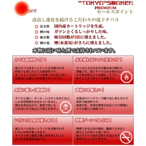電子タバコ「東京スモーカープレミアムLS-5730/TOKYO SMOKER PREMIUM」本体セット 通販、販売
