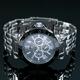 【Salvatore Marra】クロノグラフ腕時計 SM7019-BK - 縮小画像3
