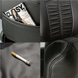 Dohm製 本革調シートカバー Standardモデル ゼストスパーク用 【H30】 軽自動車 ブラック 1台分