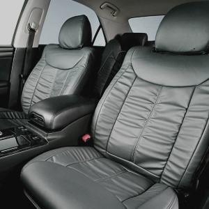 Dohm製 本革調シートカバー VIPモデル クラウン用 【T132】 セダン グレー 1台分 - 拡大画像