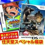 任天堂スペシャル福袋 Wii モンハントライ + DS イナズマイレブン2 〜脅威の侵略者〜 ブリザード + 人気ソフト3本《おもちゃのポケットキッズ》