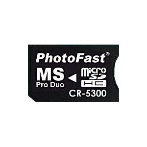 MS Pro Duo変換アダプタ PhotoFast CR-5300 microSDHC対応