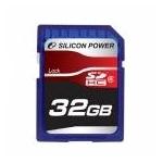 シリコンパワー 32GB SDHCカードCLASS6  SP032GBSDH006V10