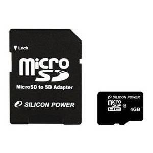 シリコンパワー 4GBマイクロSDHCカ-ド(CLASS10) 5枚セット SP004GBSTH010V10-SP×5P - 拡大画像