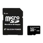 シリコンパワー 4GBマイクロSDHCカ-ド(CLASS10) 5枚セット SP004GBSTH010V10-SP×5P