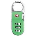 【防犯グッズ:旅行用】YALE (エール)旅行用TSAロック(CLIP ON LOCK)グリーン
